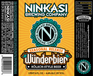Ninkasi Brewing Company WÜnderbier