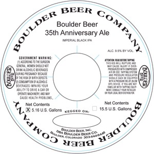 Boulder Beer 35th Anniversary Ale