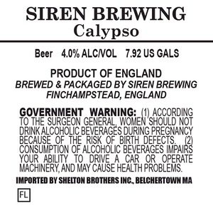 Siren Brewing Calypso