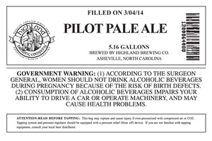 Highland Brewing Co. Pilot Pale