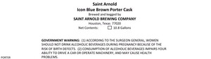 Saint Arnold Brewing Company Icon Blue Brown Porter Cask