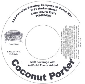 Appalachian Brewing Co Coconut Porter