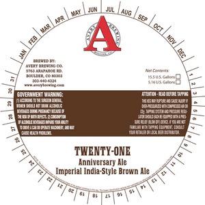 Avery Brewing Company Twenty-one Anniversary