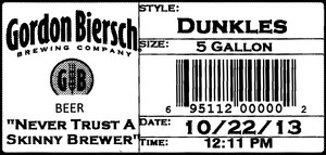 Gordon Biersch Brewing Company Dunkles