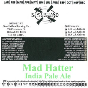 New Holland Brewing Company, LLC Mad Hatter