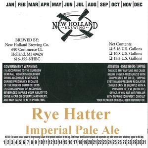 New Holland Brewing Company, LLC Rye Hatter