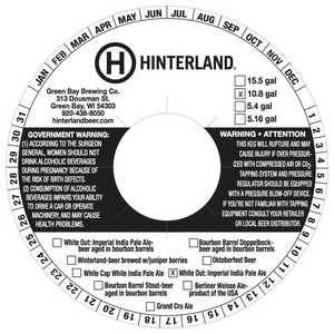 Hinterland White Out Imperial India Pale March 2014