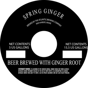 Atlantic Brewing Company Spring Ginger