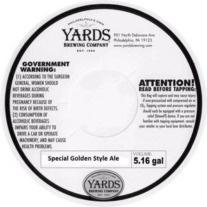 Yards Brewing Company Special Goldan Ale