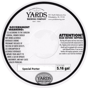 Yards Brewing Company Special Porter