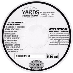 Yards Brewing Company Special Stout