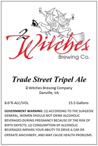 2 Witches Brewing Company Trade Street Tripel