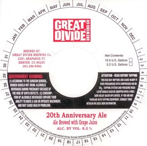 Great Divide Brewing Company 20th Anniversary