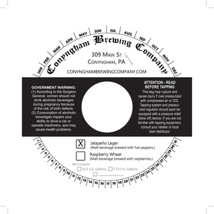 Conyngham Brewing Company Jalapeno Lager