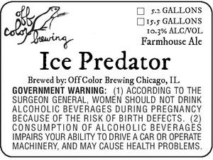 Off Color Brewing Ice Predator