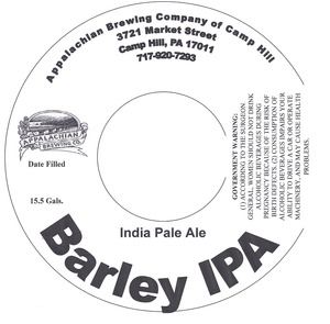 Appalachian Brewing Co Barley IPA