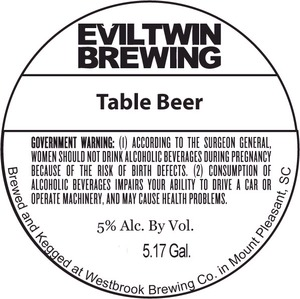Evil Twin Brewing Table Beer