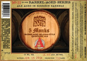Avery Brewing Company 5 Monks Barrel-aged Belgian-style
