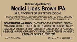 Thornbridge Brewery Medici Lions Brown IPA
