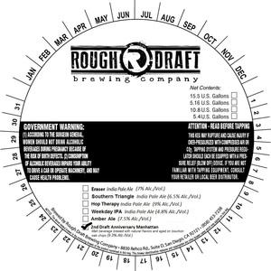 Rough Draft Brewing Company 2nd Draft Anniversary Manhattan