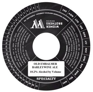 Widmer Brothers Brewing Company Old Embalmer April 2014
