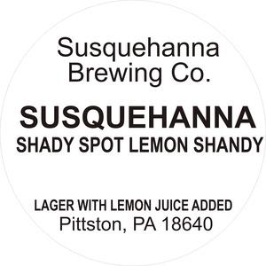 Susquehanna Brewing Company Shady Spot Lemon Shandy