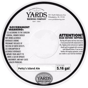 Yards Brewing Company Petty's Island Ale