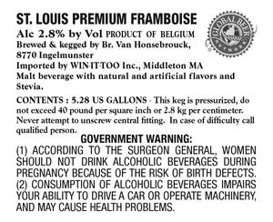 Global Beer Network St. Louis Premium Framboise