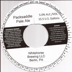 Whitehorse Brewing LLC Packsaddle Pale Ale April 2014