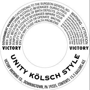Victory Unity Kolsch