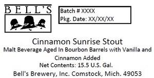 Bell's Cinnamon Sunrise Stout