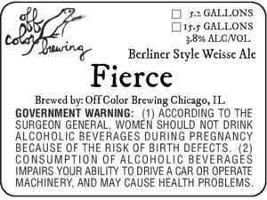 Off Color Brewing Fierce