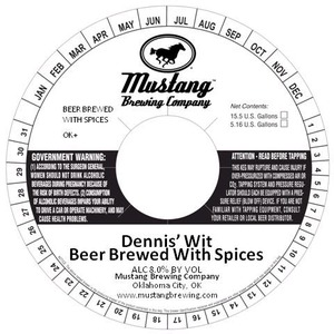 Mustang Brewing Company Dennis' Wit