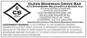 Dukes Bohemian Grove Bar O.j. Strawberry Belgian Style