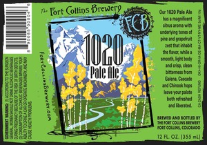 Fort Collins Brewery 1020 Pale Ale