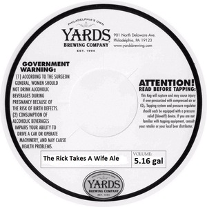 Yards Brewing Company The Rick Takes A Wife Ale