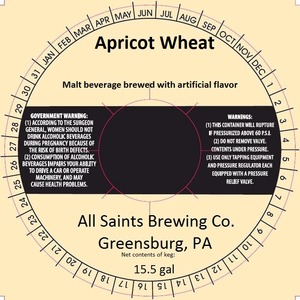 All Saints Brewing Co., Inc. Apricot Wheat