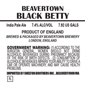 Beavertown Brewery Black Betty