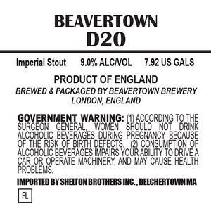 Beavertown Brewery D20