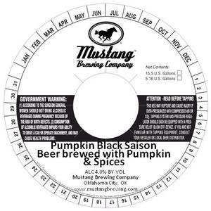 Mustang Brewing Company Pumpkin Black Saison