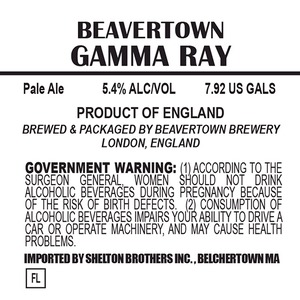 Beavertown Brewery Gamma Ray