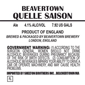 Beavertown Brewery Quelle Saison