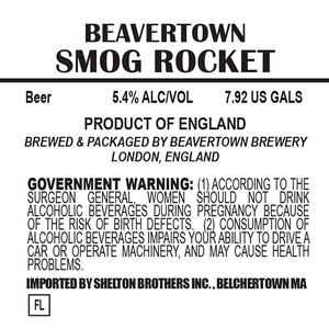 Beavertown Brewery Smog Rocket