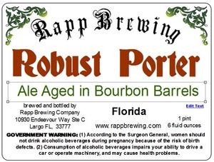 Rapp Brewing Robust Porter