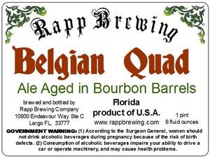 Rapp Brewing Belgian Quad