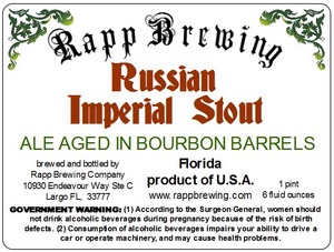 Rapp Brewing Russian Imperial Stout