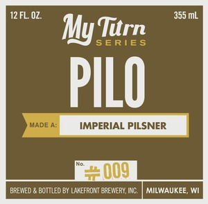 Lakefront Brewery Pilo Made A Imperial Pilsner