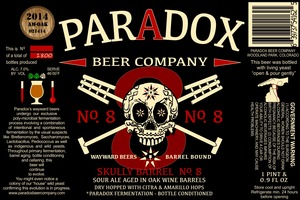 Paradox Beer Company Inc Skully Barrel No. 8