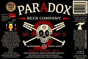 Paradox Beer Company Inc Skully Barrel No. 9