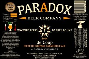 Paradox Beer Company Inc De Coup